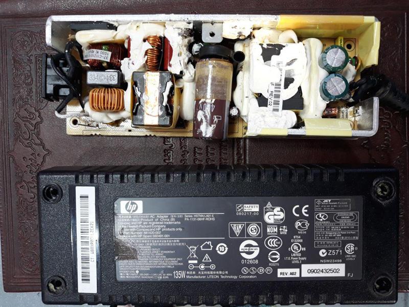 تعمیر برد شارژر 135 وات لپ تاپ اچ پی
