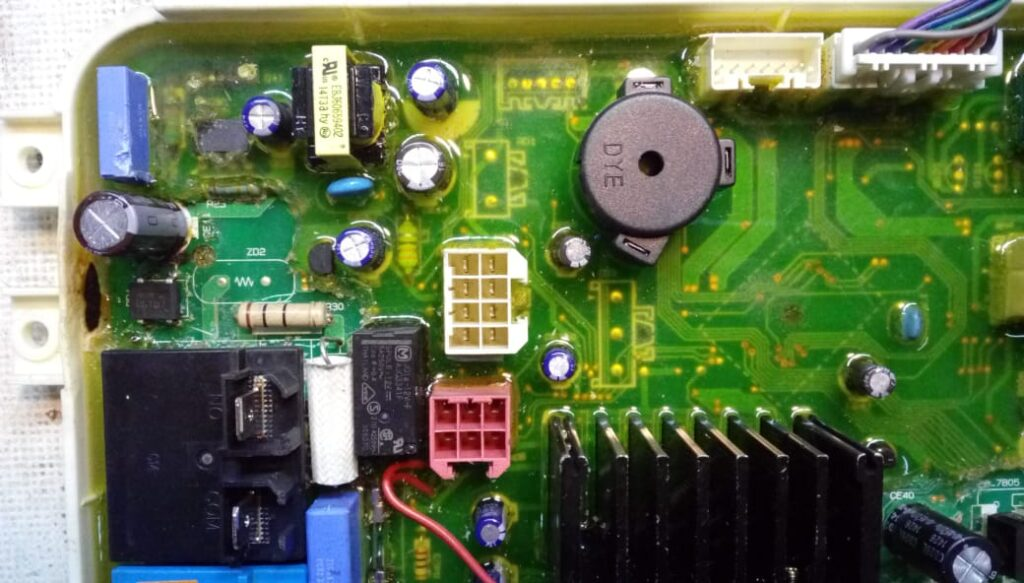 تعمیر برد ماشین ظرفشویی ال جی
